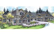 Craftsman Style House Plan - 3 Beds 3 Baths 5808 Sq/Ft Plan #124-703 Exterior - Front Elevation