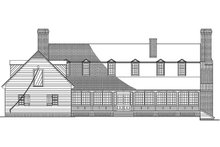 Colonial Exterior - Rear Elevation Plan #137-177