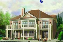 Dream House Plan - Traditional Exterior - Front Elevation Plan #23-580