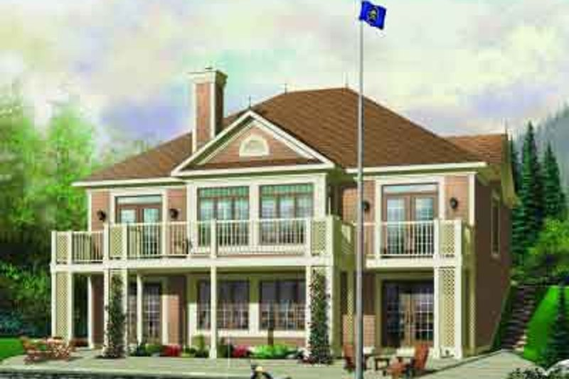 Traditional Exterior - Front Elevation Plan #23-580 - Houseplans.com