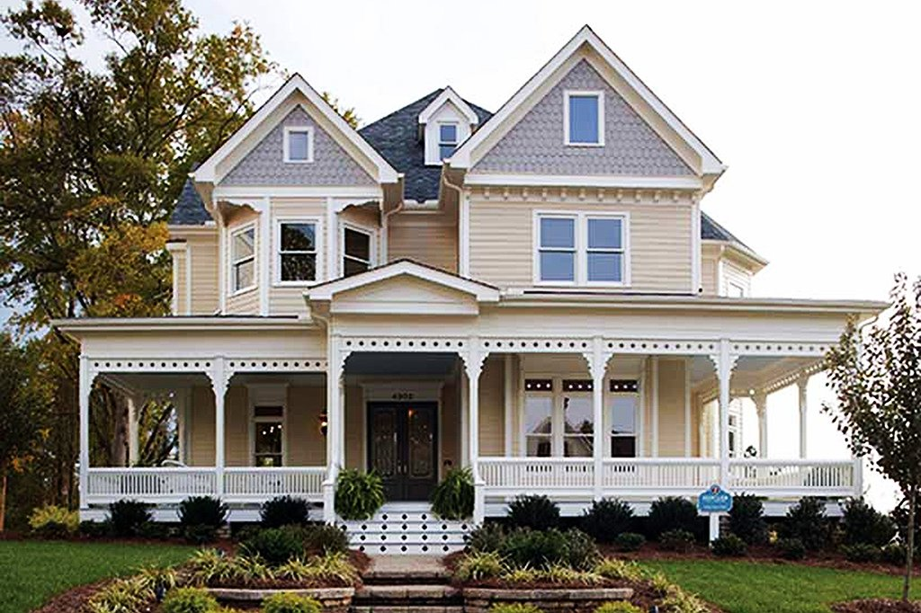 Victorian House Front Elevation : Victorian style house plan beds baths sq ft