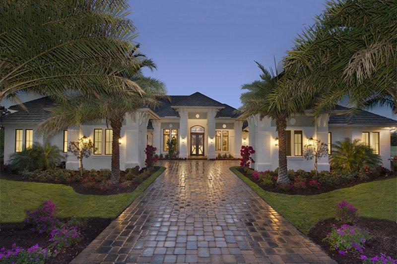 Architectural House Design - Mediterranean Exterior - Front Elevation Plan #1017-158