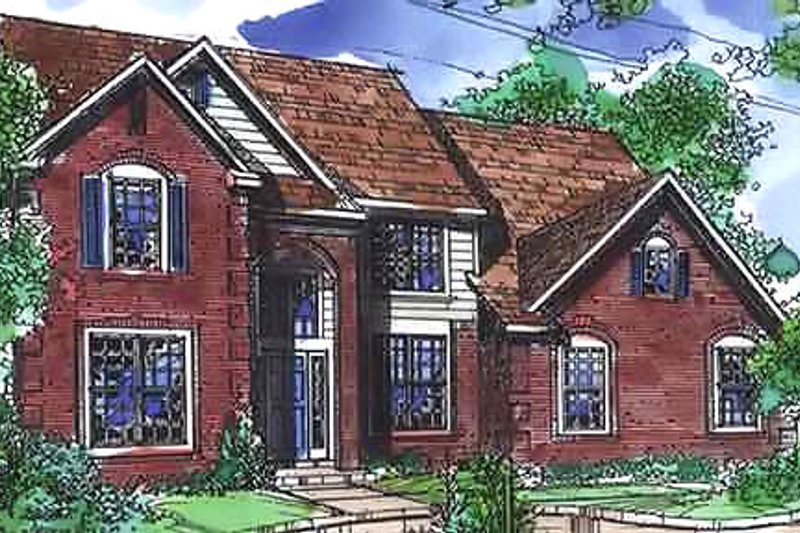 European Exterior - Front Elevation Plan #320-453