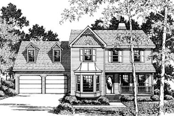 Victorian Exterior - Front Elevation Plan #10-235