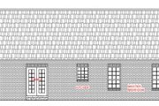 Ranch Style House Plan - 3 Beds 2.5 Baths 1400 Sq/Ft Plan #21-113 Exterior - Rear Elevation