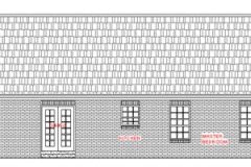 Ranch Exterior - Rear Elevation Plan #21-113 - Houseplans.com