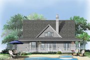 Country Style House Plan - 3 Beds 2.5 Baths 1968 Sq/Ft Plan #929-48 Exterior - Rear Elevation