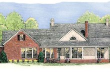 House Plan Design - Rear View - 2300 square foot Country home