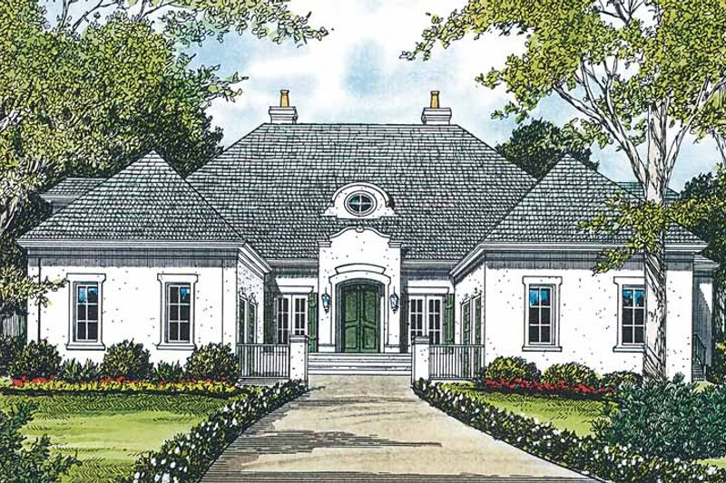 Architectural House Design - Country Exterior - Front Elevation Plan #453-197