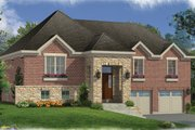 Contemporary Style House Plan - 3 Beds 2.5 Baths 2300 Sq/Ft Plan #46-841 Exterior - Front Elevation