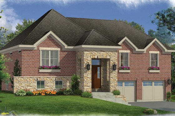 Contemporary Exterior - Front Elevation Plan #46-841