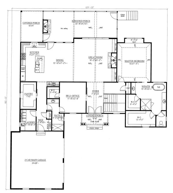 Country Floor Plan - Main Floor Plan #437-120
