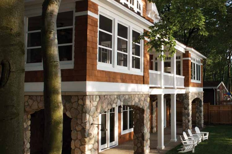 Craftsman Exterior - Rear Elevation Plan #928-64 - Houseplans.com