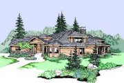 House Plan - 3 Beds 3.5 Baths 3975 Sq/Ft Plan #60-482 Exterior - Front Elevation