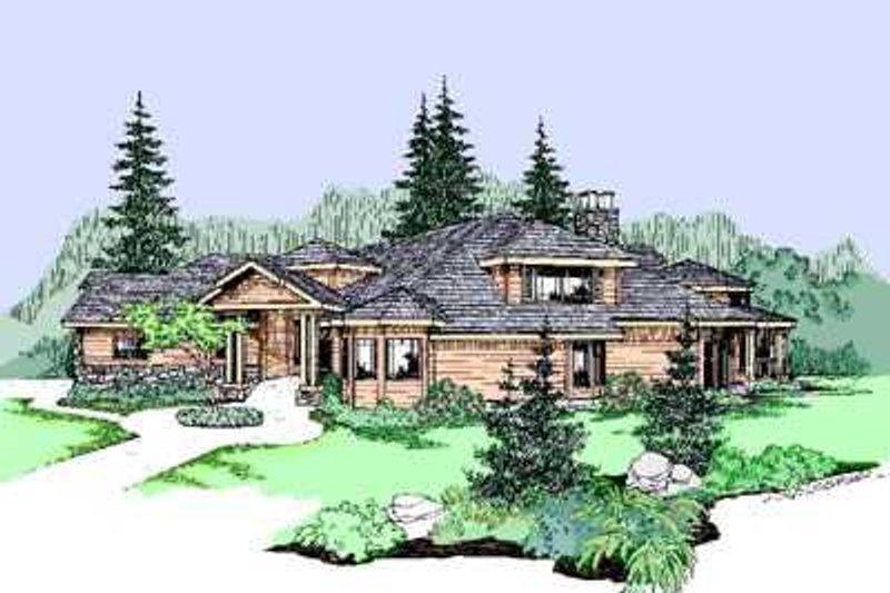 Exterior - Front Elevation Plan #60-482