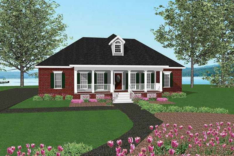 Country Exterior - Front Elevation Plan #44-200 - Houseplans.com