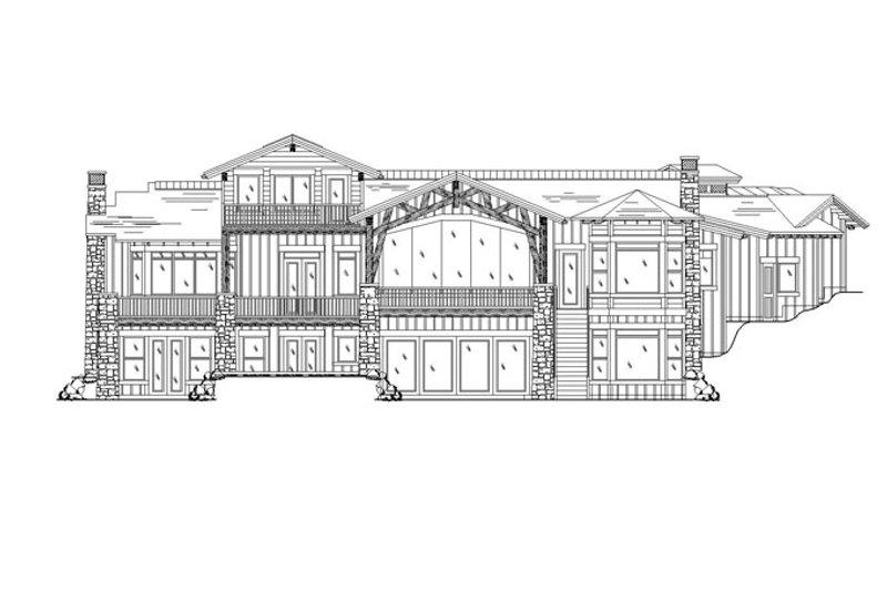 Craftsman Exterior - Rear Elevation Plan #945-140 - Houseplans.com