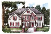 Classical Style House Plan - 5 Beds 4 Baths 3261 Sq/Ft Plan #927-771 Exterior - Front Elevation