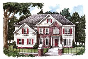 Classical Exterior - Front Elevation Plan #927-771