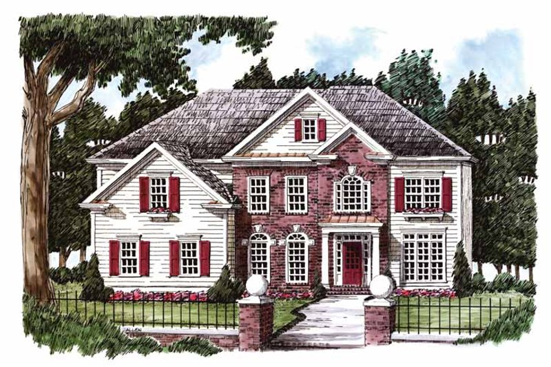 Classical Exterior - Front Elevation Plan #927-771 - Houseplans.com