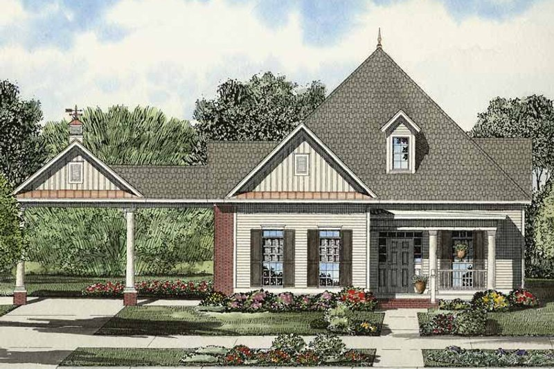 Colonial Exterior - Front Elevation Plan #17-2869 - Houseplans.com