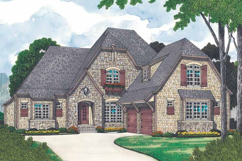 Country Exterior - Front Elevation Plan #453-444