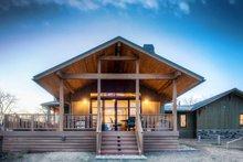 Architectural House Design - Prairie Exterior - Rear Elevation Plan #1042-18