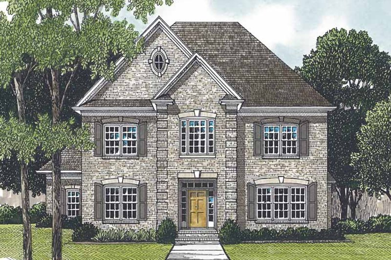 Architectural House Design - Traditional Exterior - Front Elevation Plan #453-548