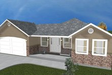 Ranch Exterior - Front Elevation Plan #1060-22