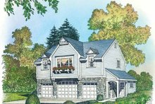 House Plan Design - Colonial Exterior - Front Elevation Plan #1016-89
