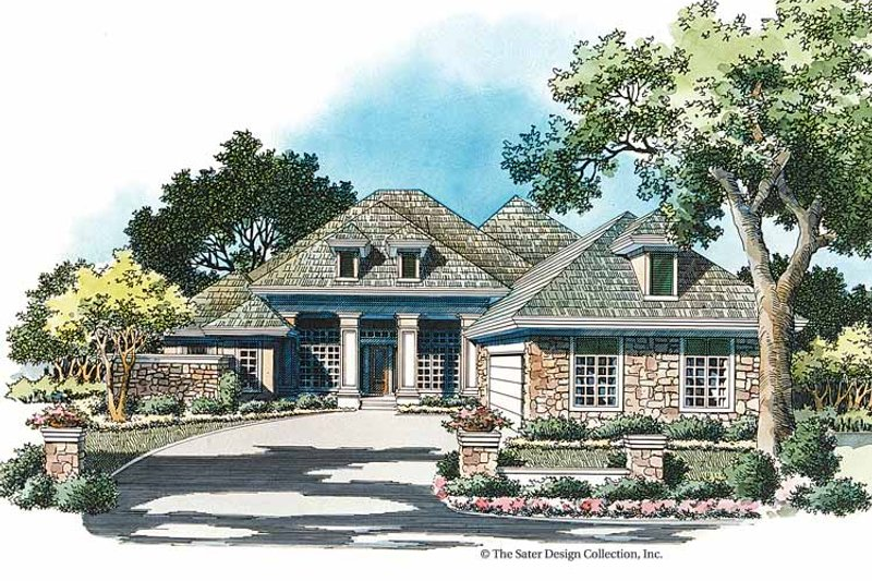 Country Exterior - Front Elevation Plan #930-341