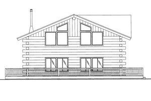 Log Exterior - Front Elevation Plan #117-585