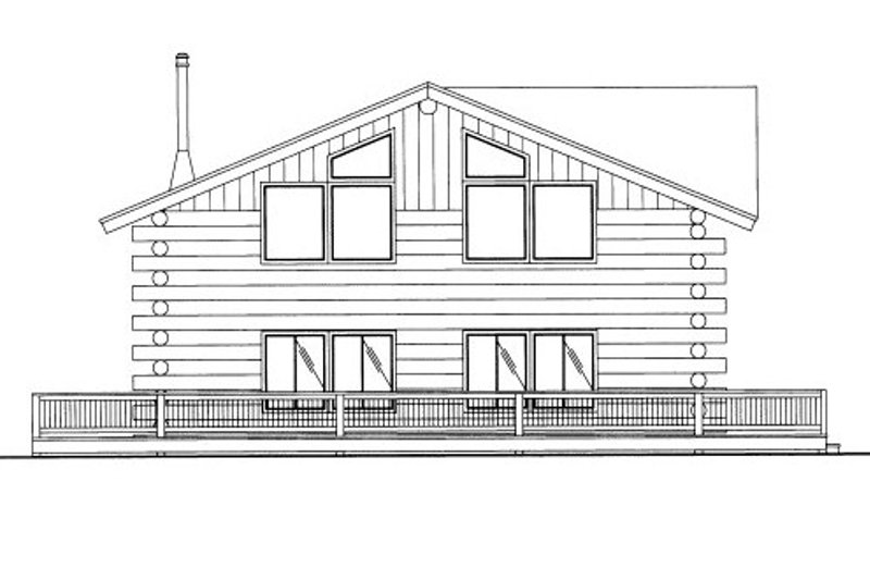 Log Style House Plan - 2 Beds 1 Baths 1693 Sq/Ft Plan #117-585 Exterior - Front Elevation