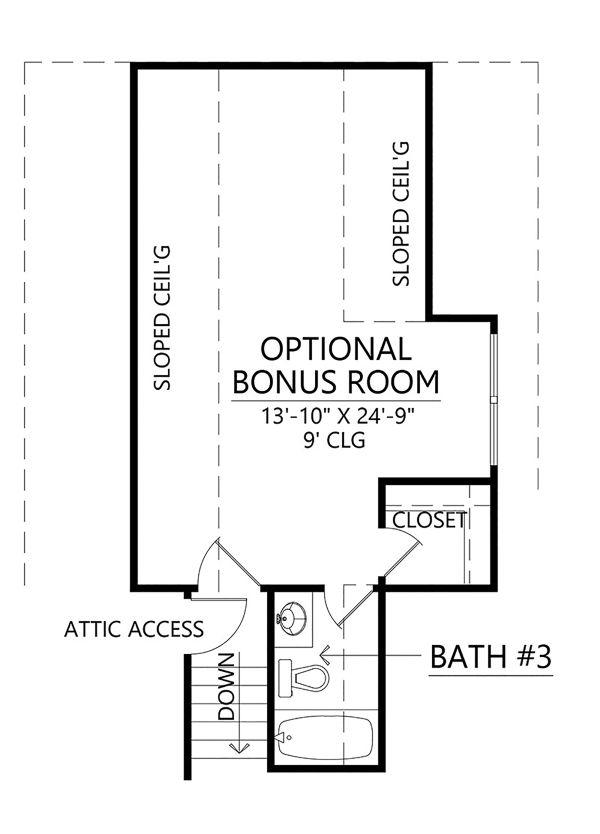 House Plan Design - Farmhouse Floor Plan - Upper Floor Plan #1074-4
