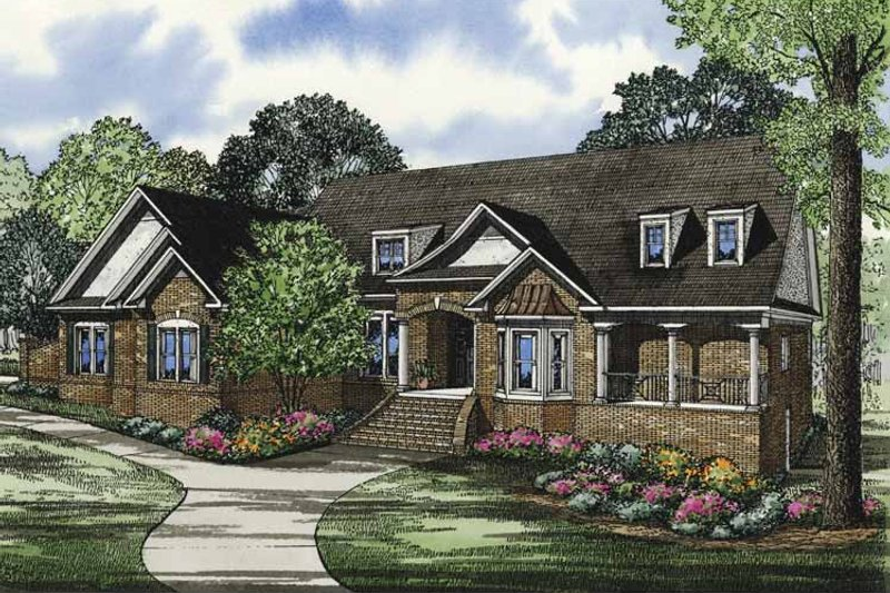 Traditional Exterior - Front Elevation Plan #17-3320 - Houseplans.com