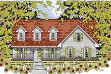 House Plan Design - Country Exterior - Front Elevation Plan #42-598