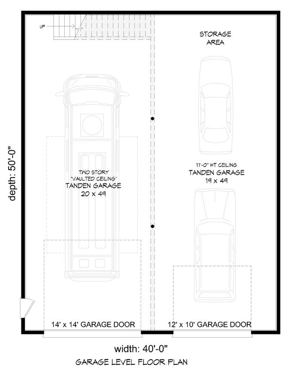 Home Plan - Contemporary Floor Plan - Lower Floor Plan #932-72