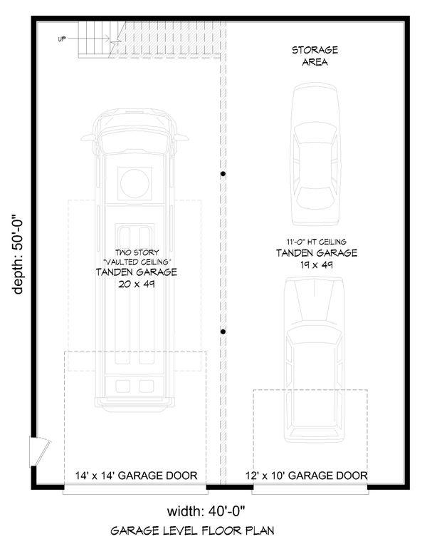 Contemporary Floor Plan - Lower Floor Plan Plan #932-72