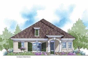 Country Exterior - Front Elevation Plan #938-18