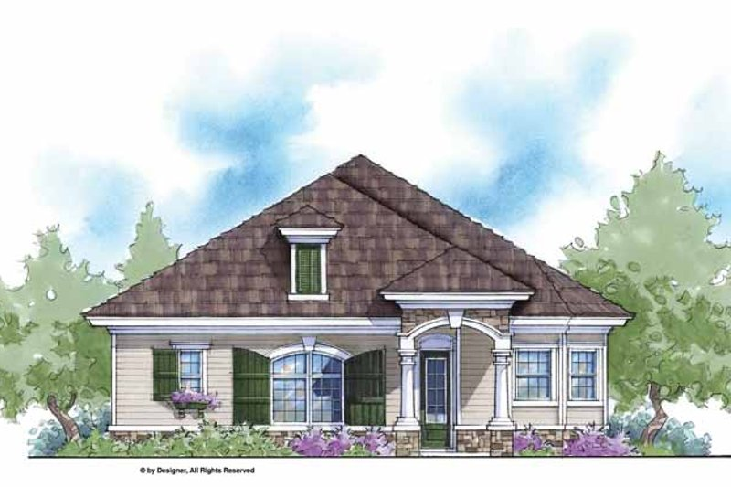 House Plan Design - Country Exterior - Front Elevation Plan #938-18