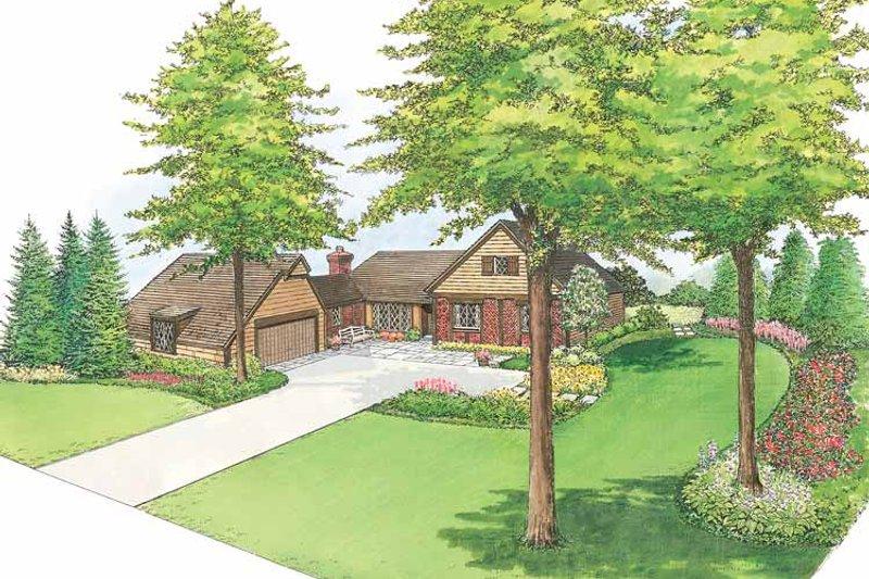 European Exterior - Front Elevation Plan #1040-22 - Houseplans.com