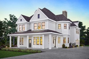 Victorian Exterior - Front Elevation Plan #410-3612