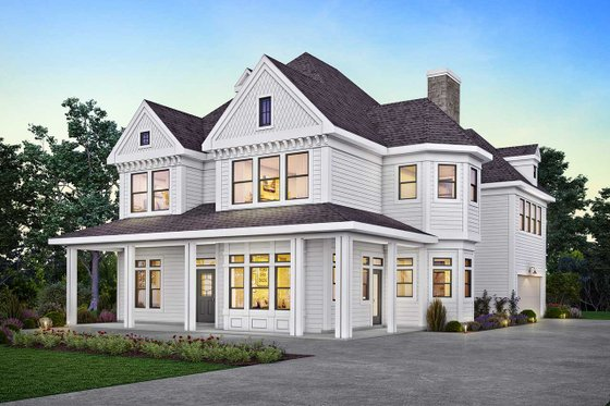 Dream House Plan - Victorian Exterior - Front Elevation Plan #410-3612