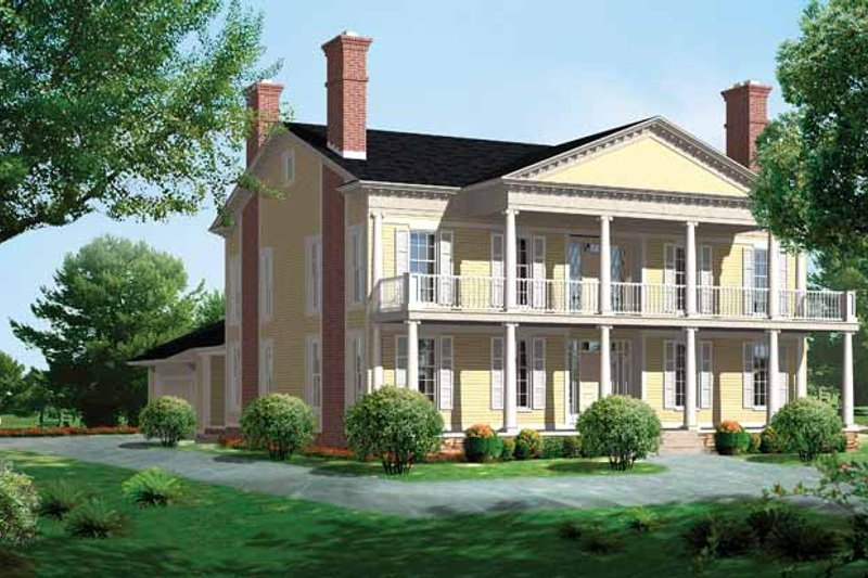Classical Exterior - Front Elevation Plan #72-819