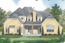 Tudor Exterior - Rear Elevation Plan #453-447
