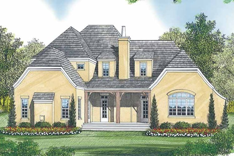 Tudor Exterior - Rear Elevation Plan #453-447 - Houseplans.com