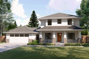 Bungalow Exterior - Front Elevation Plan #455-220