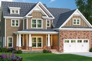 Dream House Plan - Traditional Exterior - Front Elevation Plan #419-212