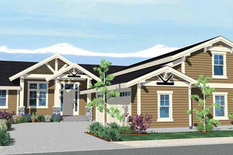 Prairie Exterior - Front Elevation Plan #509-358
