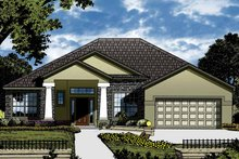 Home Plan - Contemporary Exterior - Front Elevation Plan #1015-42